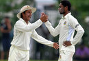 Sohag Gazi celebrates a wicket with Mohammad Ashraful