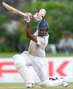 Lahiru Thirimanne plays a stylish square drive