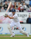 Alastair Cook drives during England's century opening stand