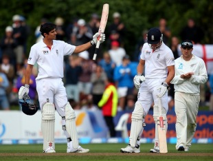 Alastair Cook brought up his 24th Test hundred, New Zealand v England, 1st Test, Dunedin, 4th day, March 9, 2013