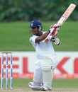 Dinesh Chandimal drives square during his century