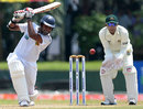 Lahiru Thirimanne drives through the covers, Sri Lanka v Bangladesh, 1st Test, Galle, 2nd day, March 9, 2013