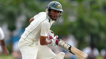 Anamul Haque guides one behind square