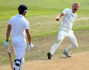 Neil Wagner is elated after dismissing Nick Compton