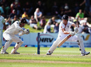 Nick Compton dabs one past the keeper, New Zealand v England, 1st Test, Dunedin, 5th day, March 10, 2013