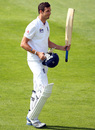 Steven Finn walks back after batting for nearly five hours, New Zealand v England, 1st Test, Dunedin, 5th day, March 10, 2013