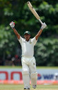 Mohammad Ashraful celebrates after scoring his sixth Test hundred