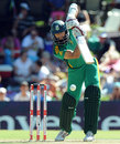 Hashim Amla punches the ball down the ground