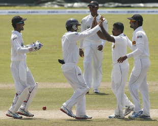 Rangana Herath got a wicket in the morning session, Sri Lanka v Bangladesh, 1st Test, Galle, 3rd day, March 10, 2013