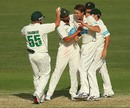 Luke Butterworth took four wickets in Tasmania's big win, Queensland v Tasmania, Sheffield Shield 2012-13, Brisbane, 4th day, March 10, 2013