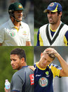 Composite photo of the four Australia players who were sacked for the Mohali Test
