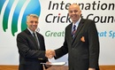 ICC chief executive Dave Richardson with KNCB CEO Richard Cox, March 11, 2013