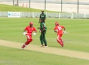 Ruvindu Gunasekera and Nitish Kumar complete a run, Canada v Kenya, ICC WCL Championship, Dubai, March 11, 2013