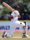 Kithuruwan Vithanage plays a sweep shot, Sri Lanka v Bangladesh, Sri Lanka v Bangladesh, 1st Test, Galle, 5th day, March 12, 2013