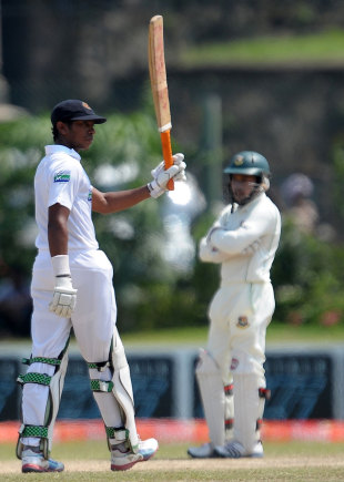 Kithuruwan Vithanage helped himself to a brisk fifty on debut