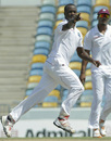 Kemar Roach celebrates a wicket, West Indies v Zimbabwe, 1st Test, Barbados, 1st day, March 12, 2013