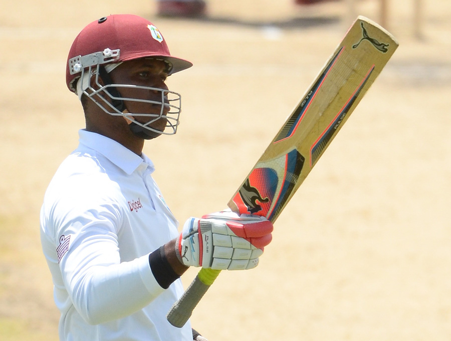 Marlon Samuels reaches his fifty