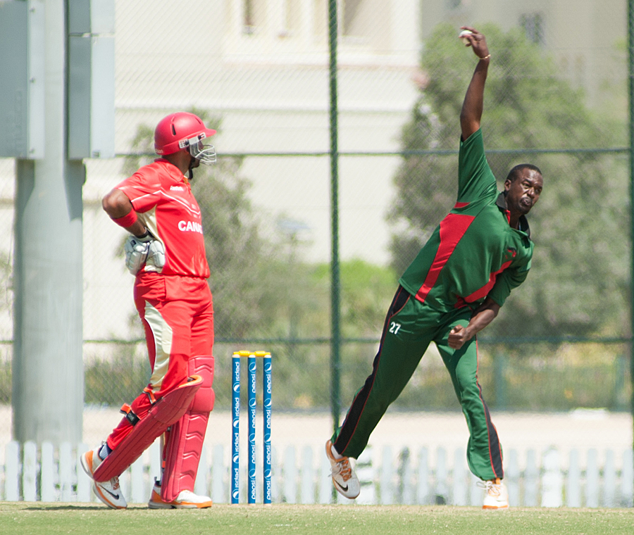 Collins Obuya bowled an effective spell of 2 for 15