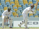 Shivnarine Chanderpaul turns one to leg, West Indies v Zimbabwe, 1st Test, Barbados, 2nd day, March 13, 2013