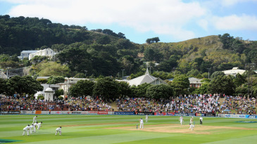 The scene over the Basin Reserve on the opening day