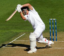 Jonathan Trott drives through the off side