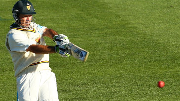 Ricky Ponting plays a pull shot during his innings of 104