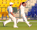 Dawlat Zadran took four wickets in Afghanistan's innings-and-5-run victory, Afghanistan v Scotland, ICC intercontinental Cup, Abu Dhabi, 3rd day, March 14, 2013