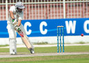 UAE captain Khurram Khan scored 115 on the third day, United Arab Emirates v Ireland, ICC Intercontinental Cup, 3rd day, Sharjah, March 14, 2013