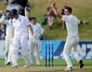 Trent Boult removed Jonathan Trott with his first ball of the day