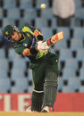 Misbah-ul-Haq goes for the big hit during his half-century, South Africa v Pakistan, 2nd ODI, Centurion, March 15, 2013