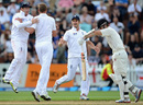 England celebrate the dismissal of Kane Williamson
