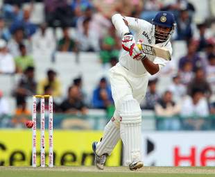 Shikhar Dhawan plays through the leg side, India v Australia, 3rd Test, Mohali, 3rd day, March 16, 2013