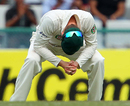 Michael Clarke's reaction of disapproval as India's openers scored freely, India v Australia, 3rd Test, Mohali, 3rd day, March 16, 2013