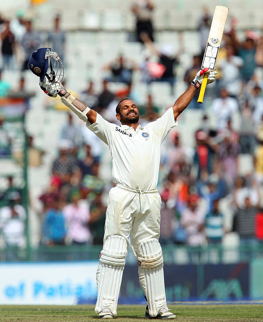 Shikhar Dhawan savours his century on debut
