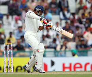 Shikhar Dhawan smashed one through the off side, India v Australia, 3rd Test, Mohali, 3rd day, March 16, 2013
