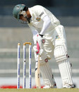 Mushfiqur Rahim is bowled for 7
