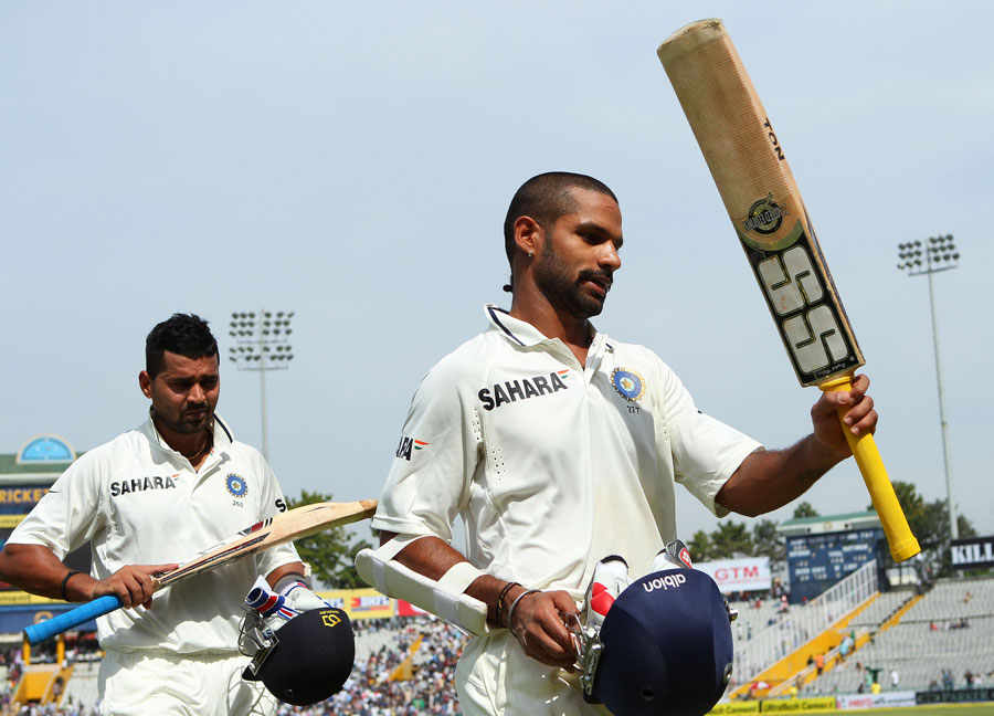 M Vijay and Shikhar Dhawan shared an unbroken opening stand of 283 runs