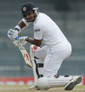 Kumar Sangakkara guides the ball towards third man