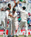 Mitchell Starc struck twice in one over, India v Australia, 3rd Test, Mohali, 4th day, March 17, 2013