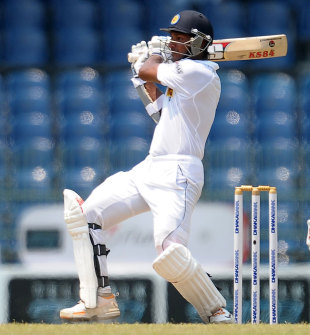 Kumar Sangakkara pulls the ball powerfully, Sri Lanka v Bangladesh, 2nd Test, Colombo, 2nd day, March 17, 2013