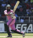 Hashim Amla plays the ball behind square