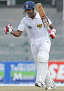 Dinesh Chandimal is pumped up after his century
