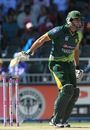 Nasir Jamshed reacts after being dismissed for 10, South Africa v Pakistan, 3rd ODI, Johannesburg, March 17, 2013