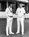 Ian Chappell and Ray Illingworth check the weather conditions, England v Australia, 2nd Test, Lord,s 1st day, June 22, 1972