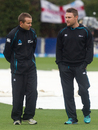 Mike Hesson and Brendon McCullum in conversation, New Zealand v England, 2nd Test, Wellington, 5th day, March 18, 2013