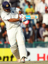 MS Dhoni pulls to the leg side, India v Australia, 3rd Test, Mohali, 5th day, March 18, 2013