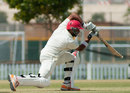 Raza-ur-Rehman drives through the covers, Canada v Kenya, ICC Intercontinental Cup, Sharjah, 1st day, March 18, 2013