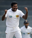 Rangana Herath struck in his first over on his 35th birthday, Sri Lanka v Bangladesh, 2nd Test, 4th day, Colombo, March 19, 2013