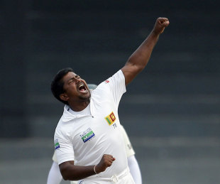 Rangana Herath became only the third Sri Lankan to take 200 Test wickets