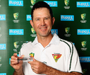 Ricky Ponting with the Sheffield Shield player of the year award